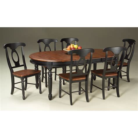 a america isles solid wood oval dining table with 2 12 quot leaves in antique oak black