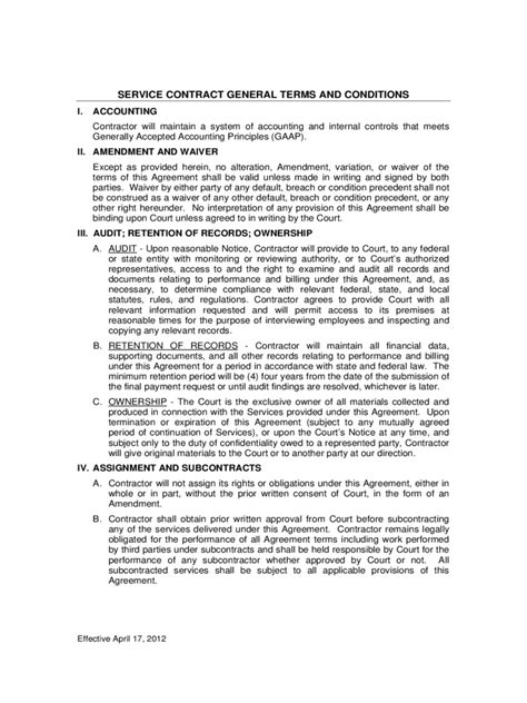 contractor terms and conditions template terms and conditions template 5 free templates in pdf