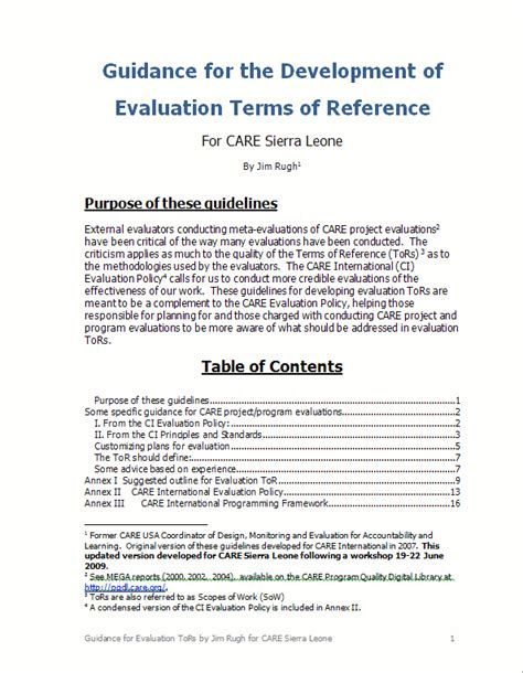 terms of reference template for consultant terms of reference sle document