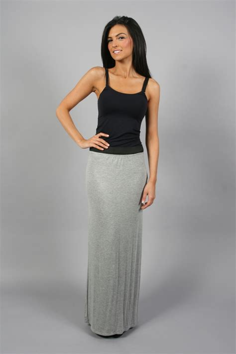 summer stretch fitted jersey maxi skirt uk ebay