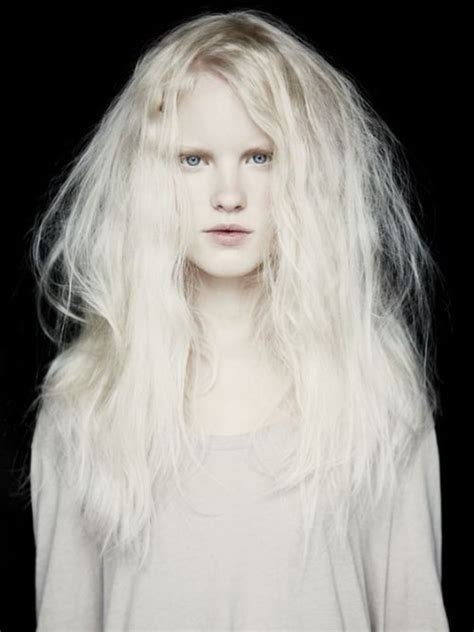 blonde hairstyles names the gorgeous russian albino model nastya kiki zhidkova