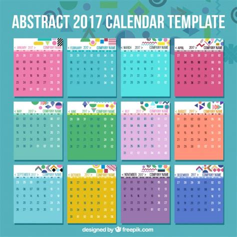 edit doodle calendar 2017 calendar template with abstract details vector