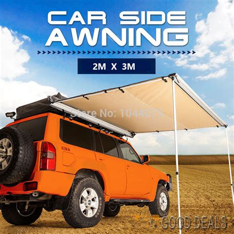 car roof awning danchel awning tent 2x3m 6 56x9 84ft 4wd roof tent awning