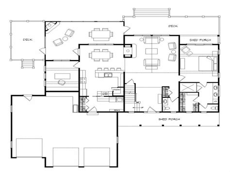 House Floor Plans With Walkout Basement | lake house floor plan lake house plans walkout basement