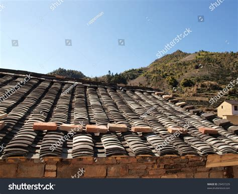 ancient roofs tile roof of ancient house stock photo 29457229