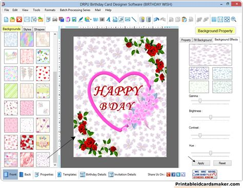 printable birthday cards maker birthday cards maker software design printable birth day
