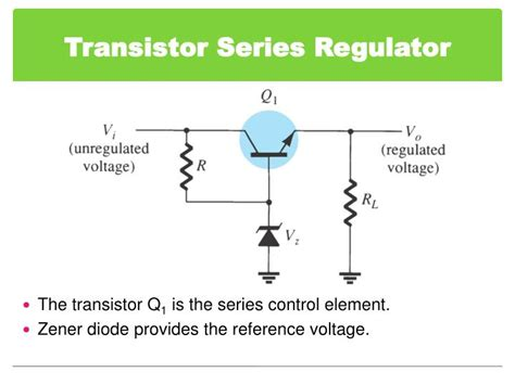 transistor npn series ppt chapter 6 voltage regulator powerpoint presentation id 5931334