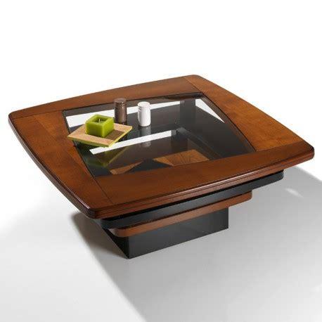table de salon twist en merisier