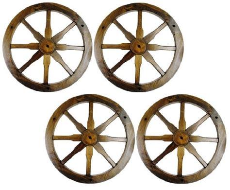 Decorative Wagon Wheels by Mrww4 Western Solid Pine Decorative Wagon Wheel 18 Diameter Set Of 4