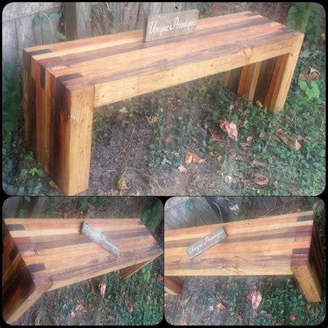 reclaimed wood bench etsy reclaimed rustic wood bench by unique primtiques
