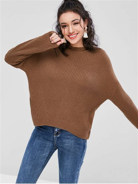 Lace Up Chunky Sweater 49 2018 back lace up chunky sweater in khaki s