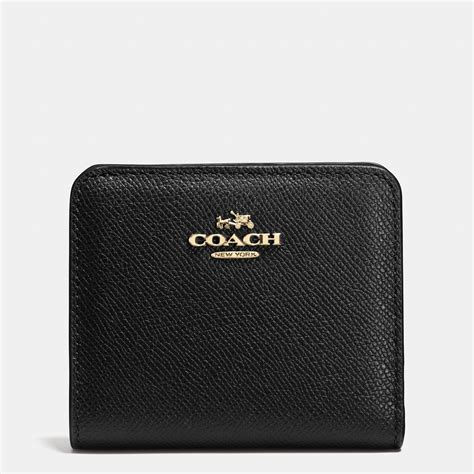 Coach Wallet Embossed Black 1 coach embossed small wallet in leather in metallic lyst