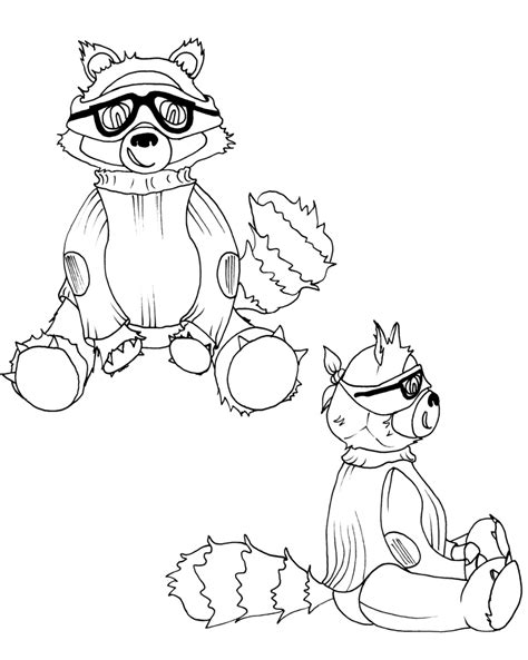 printable raccoon images free printable raccoon coloring pages for kids
