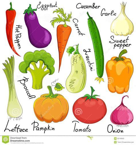 Funny Vegetable Cartoon Isolated Stock Illustration