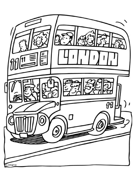 Kleurplaat Dubbeldekker In London Kleurplaten Nl Dessin De Bus Anglais A Imprimer L