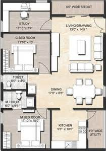 Free House Plans For 30x40 Site Indian Style 1200 Sq Ft 2 Bhk Floor Plan Image Ijm India