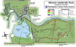 smithville map smithville park trail map smithville park eastton nj