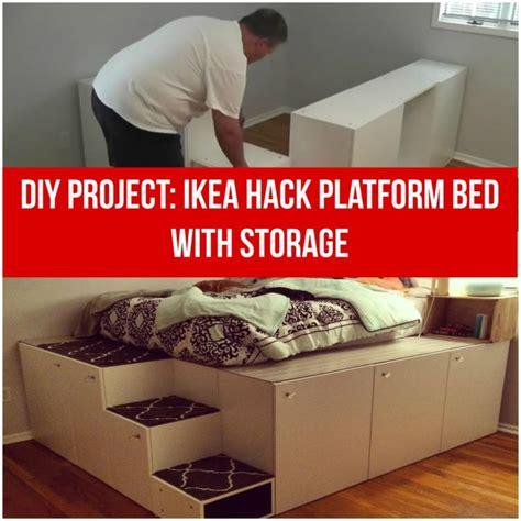 diy platform bed ikea hack pictures reference ikea hack diy platform bed with storage from ikea kitchen
