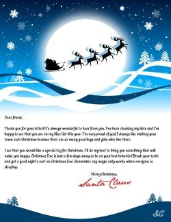 printable reply letters from santa free letter from santa create a personalized letter from santa