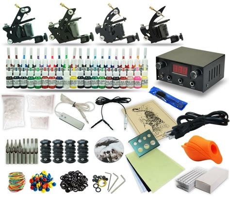 tattoo guns and kits complete kit 4 machine gun 40 color inks power
