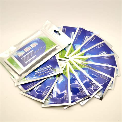 teeth whitening strips  hydrogen peroxide elastic