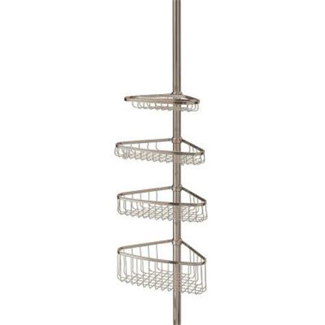 interdesign morley 4 shelf tension pole shower caddy 01853