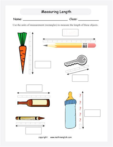 length of standard 1st grade measurement worksheets worksheet workbook site