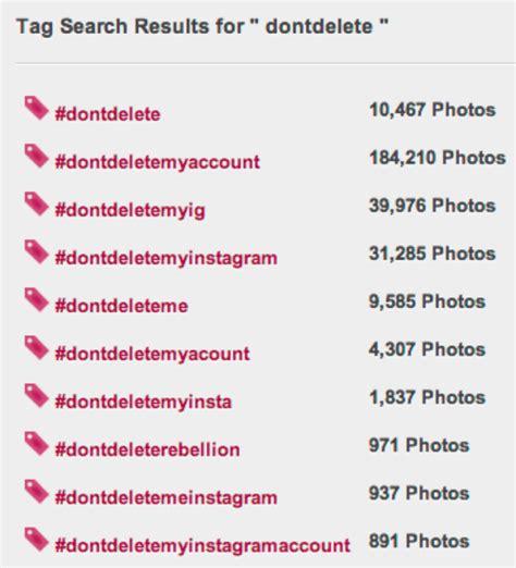 best instagram tag dontdeletemyaccount panic on instagram account