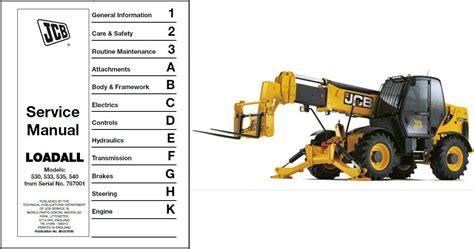 Jcb Loadall 530 533 535 540 Telescopic Handler Service