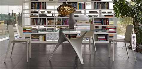 Interior Of Homes Modern Round Glass Dining Table Molteni Arc Stylehomes Net