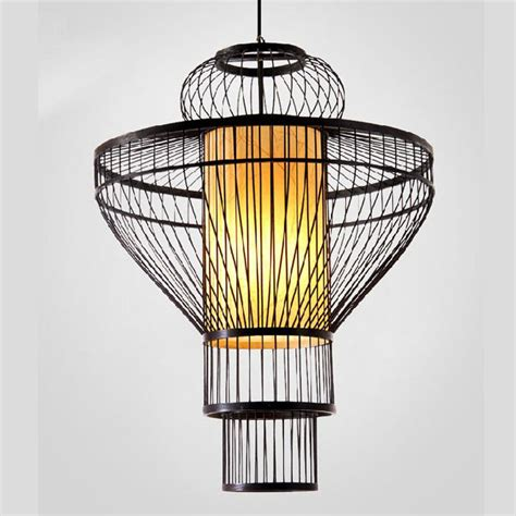 Bamboo Light Fixtures Modern Waved Bamboo Pendant Lighting 75421 Browse Project Lighting And Modern Lighting