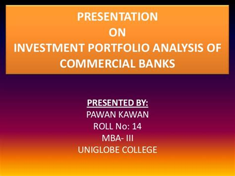 Security Analysis And Portfolio Management Ppt For Mba by Investment Portfolio Analysis