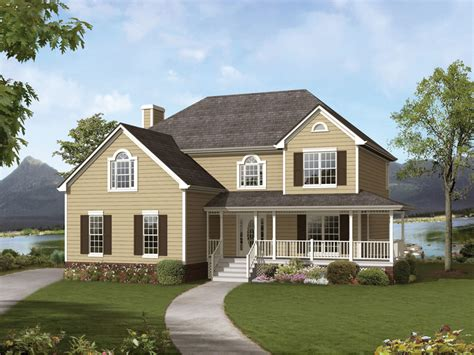 top country style house plans with wrap around porches