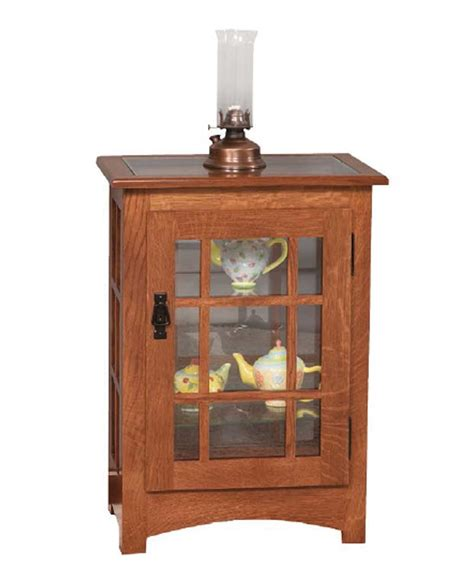 mission console table mission console end table curio amish direct furniture