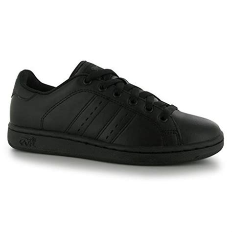 lonsdale leyton leather junior trainers boys lace up