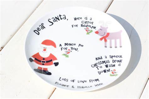 personalised santa plate    blue owl notonthehighstreetcom
