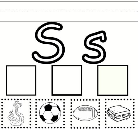 s free free initial s sound coloring pages