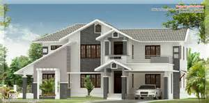 Home Design Roof Plans by 4 Bedroom Sloped Roof House Elevation House Design Plans