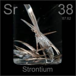 dendritic a sle of the element strontium in