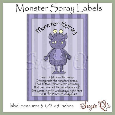 printable label for monster spray monster spray bottle labels dgital printable immediate