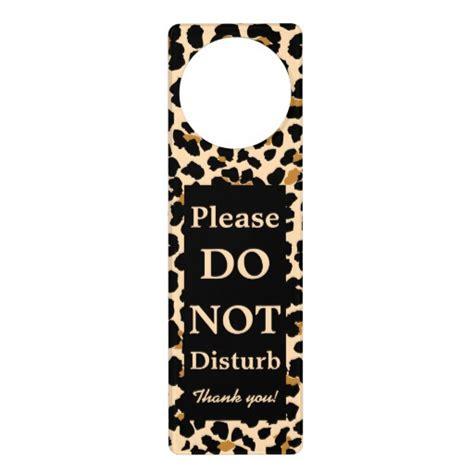 custom leopard print door hanger