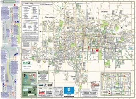 uic cus map maps chaign county bikes