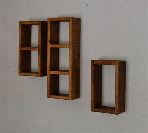 wood box shelves simple shadow box shelf set recycled wood from barnwood4u