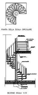 scale mobili dwg scale circolari 2d