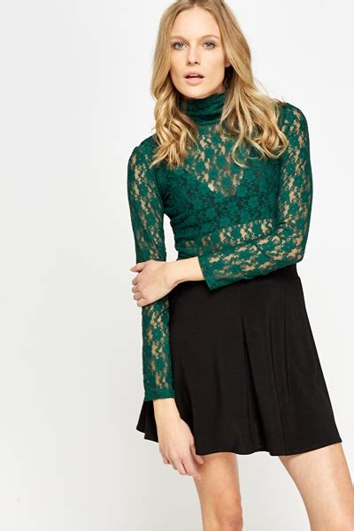 High Neck Lace Top high neck lace top 9 colours just 163 5