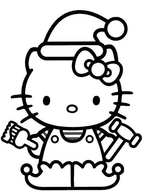christmas coloring pages kitty hello kitty christmas coloring page wallpapers9