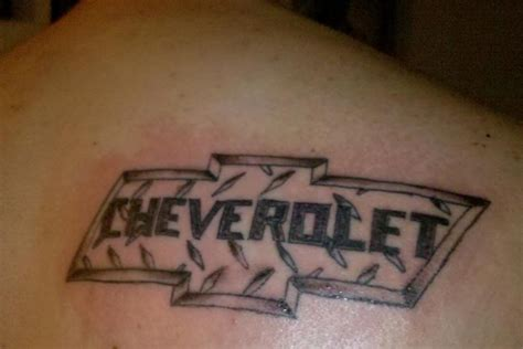 chevy symbol tattoo designs 35 chevy tattoos for proud chevrolet owners pictures