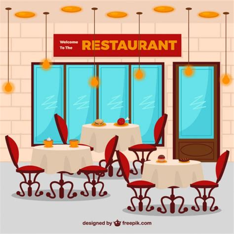 cafe interior design vector flat restaurant interior vector free download