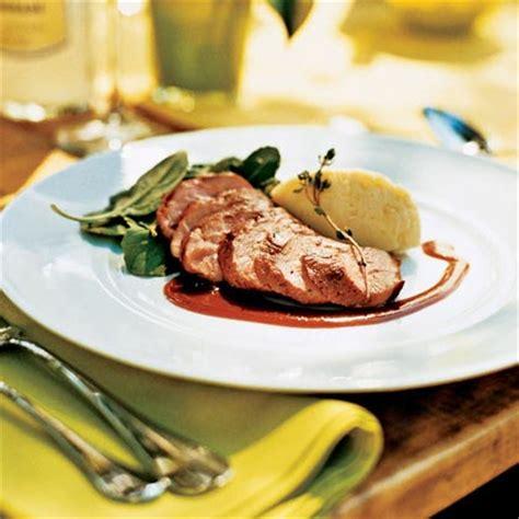 thyme roasted duck breast  orange wine sauce recipe