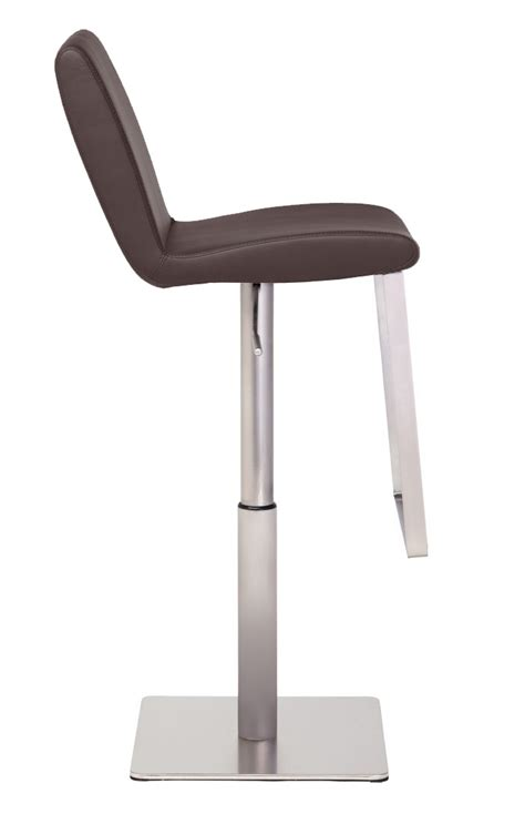 Lewis Bar Stools by Nuevo Lewis Bar Stool In Brushed Stainless Steel Frame
